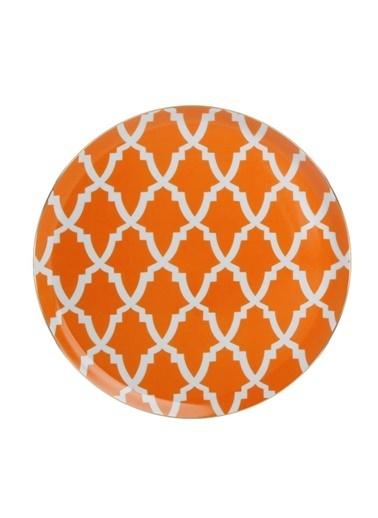 Porland Morocco Düz Tabak Turuncu 28cm Oranj
